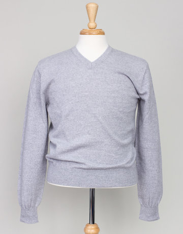 Inis Meain Inis Meain V- Neck Sweater Light Grey