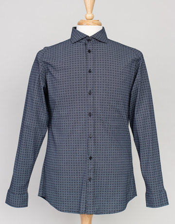 Desoto Desoto Long Sleeve Black Graph Check Shirt