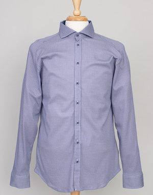Desoto Desoto Long Sleeve Blue Circle Print Shirt