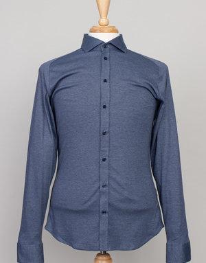 Desoto Desoto Long Sleeve Heather Navy Shirt