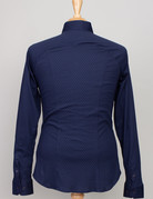 Desoto Desoto Long Sleeve Navy Diamond Print Shirt