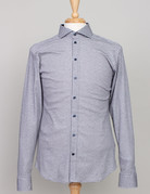 Desoto Desoto Long Sleeve Grey Graph Check Shirt