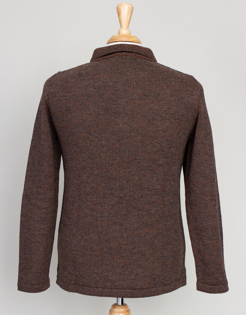 Inis Meain Inis Meain Plated Shirt Jacket Brown
