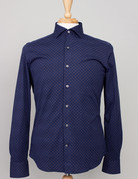 Ordean Ordean Shirt Button Up Navy Floral Print