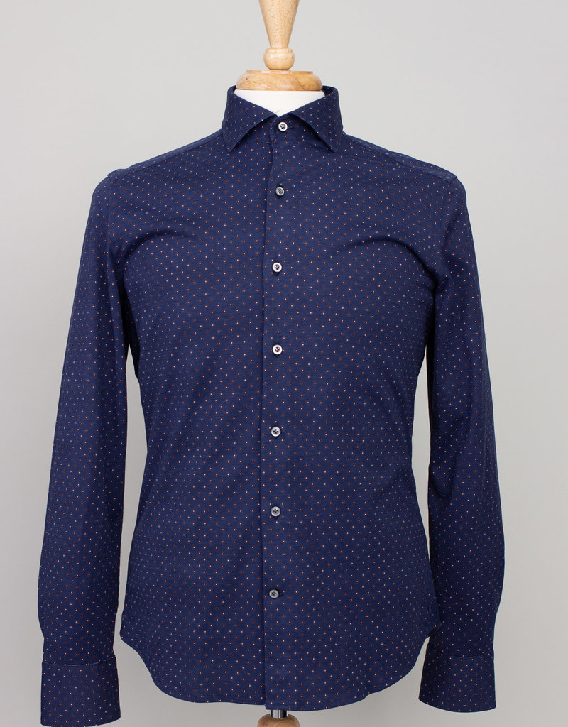 Ordean Ordean Button Up Navy  Floral Print