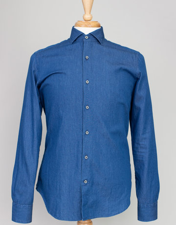 Ordean Ordean Chambray Shirt Button Up Blue
