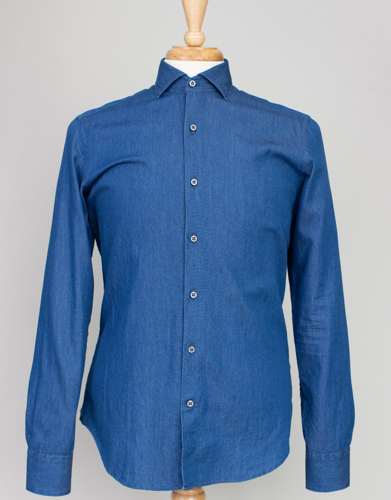 Ordean Ordean Chambray Shirt Button Up Blue