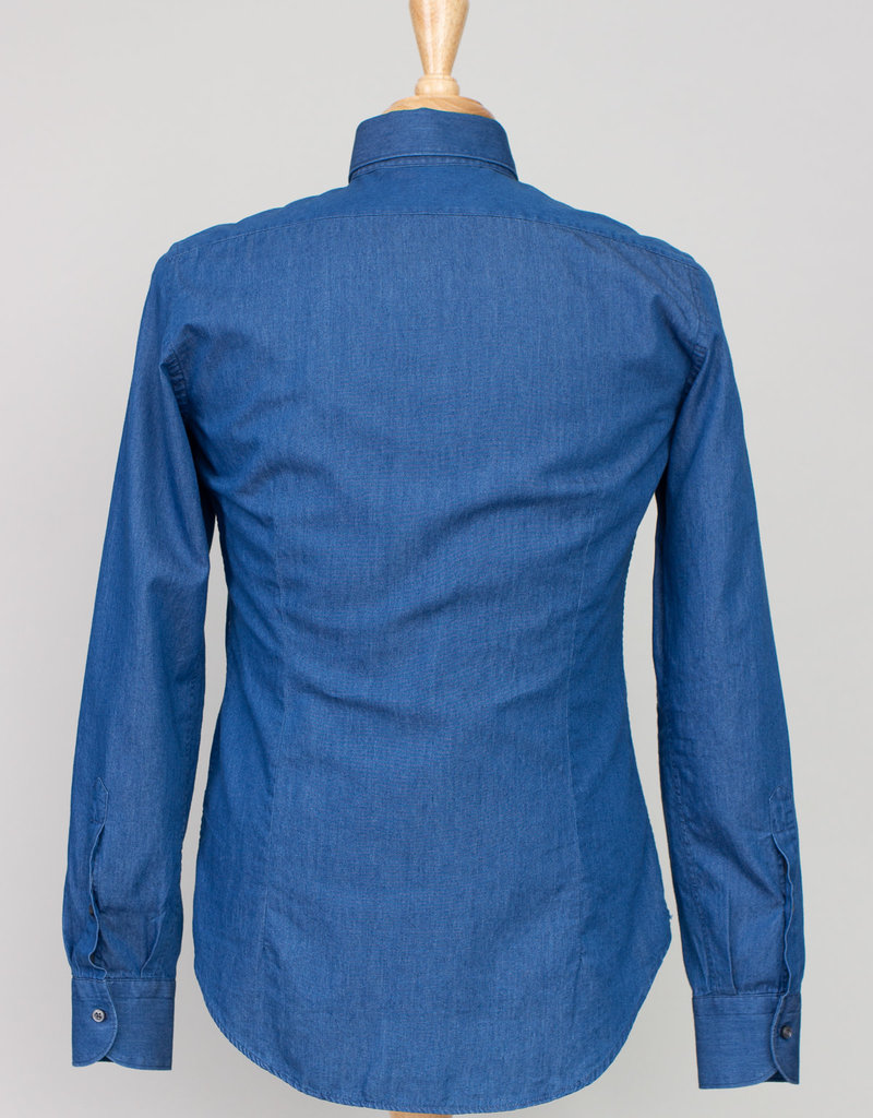 Ordean Ordean Chambray Button Up Blue