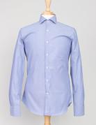 Ordean Ordean Classic Shirt Button Up Blue Pixel