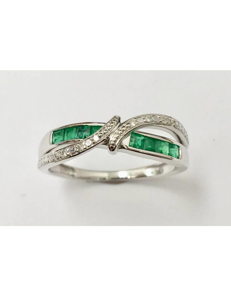 Emerald & Diamond Ring 10KW