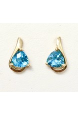 Blue Topaz Earrings 14KY