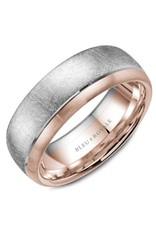 Crown Ring Diamond Brushed/Polished Ring 14KWR (Bleu Royale)