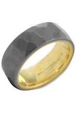 Crown Ring Hammered Tantalum & 14KY Ring (Bleu Royale)