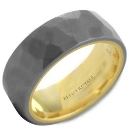 Crown Ring Hammered Tantalum (Bleu Royale)