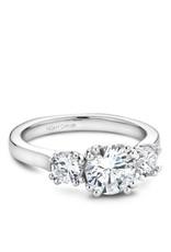 Noam Carver Three Stone Semi-Mount Engagement Ring 14KW by Noam Carver