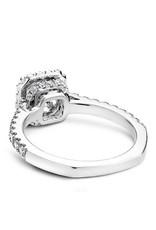 Noam Carver Princess Halo Semi-Mount 14KW Ring By Noam Carver