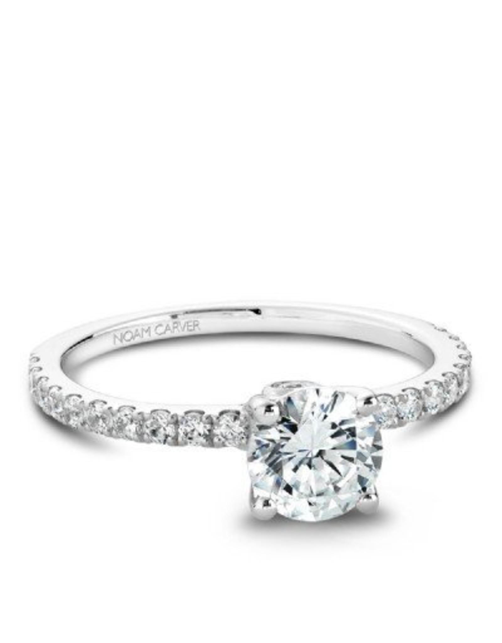 Noam Carver Side Diamond Semi-Mount by Noam Carver 14KW