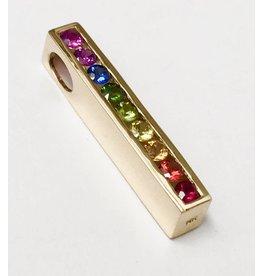 Rainbow Sapphire Line Pendant