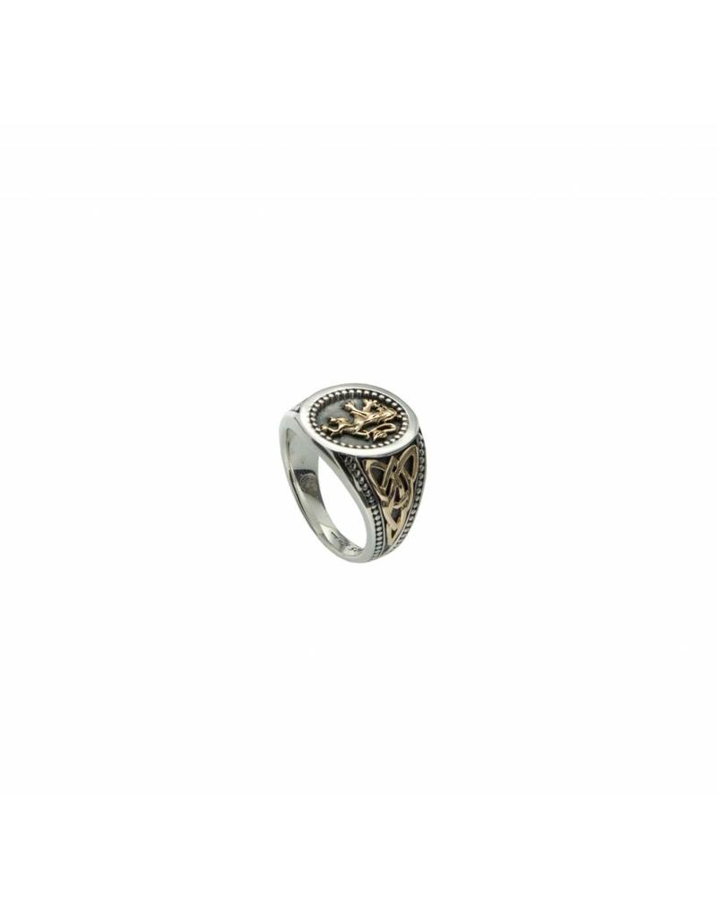 Keith Jack Rampant Lion Ring SS/10KY