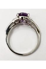 Filigree Amethyst Ring 10KW