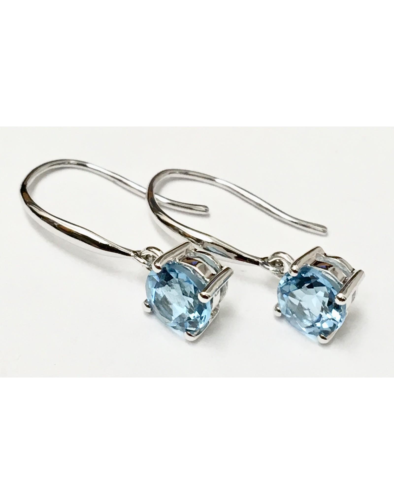 Topaz Earrings 14KW