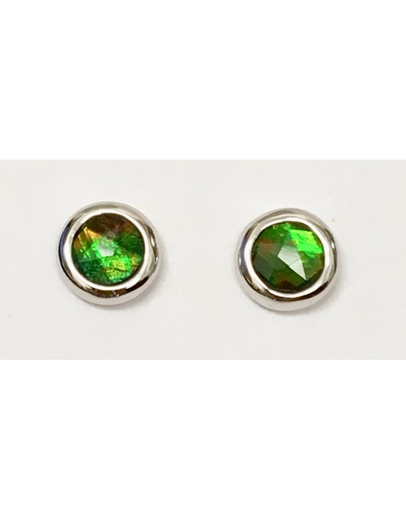 Korite Ammolite Chloe Stud Earrings SS