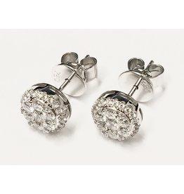 0.65ctw Diamond Cluster Studs