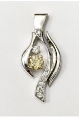 Custom Diamond Pendant 14KWY