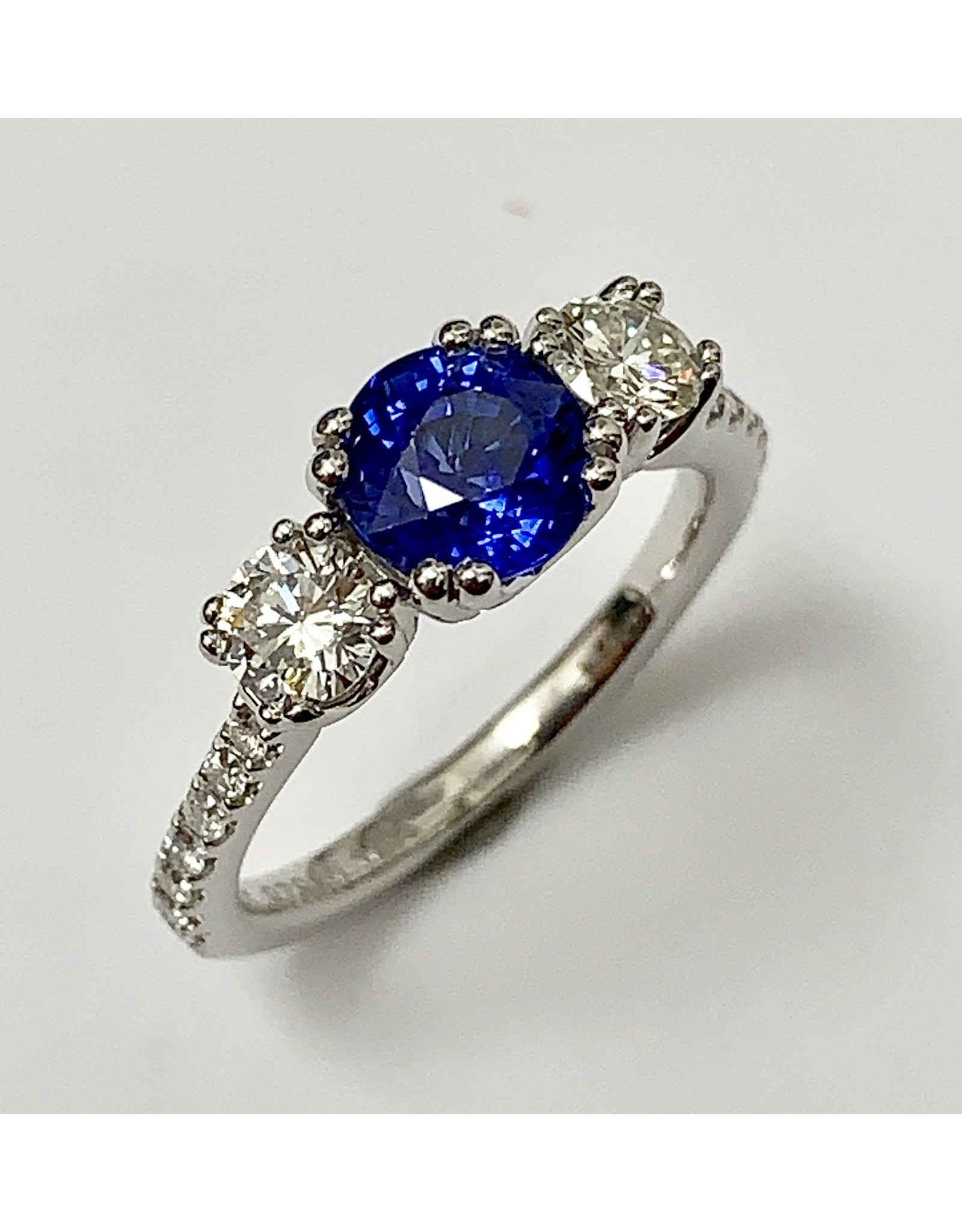 Noam Carver Sapphire & Diamond Ring 14KW