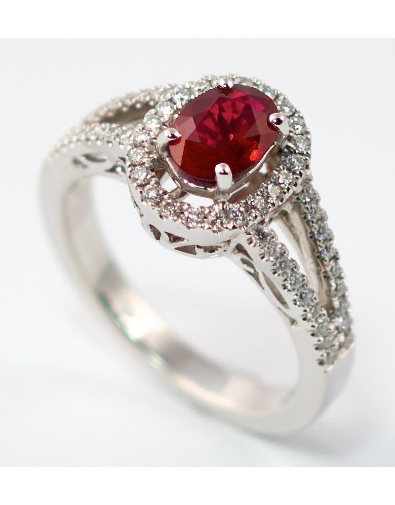 Ruby & Diamond Ring 18KW