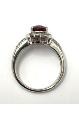 2.35ct Ruby & Diamond Ring 18KW