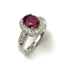 2.35ct Ruby & Diamond Ring