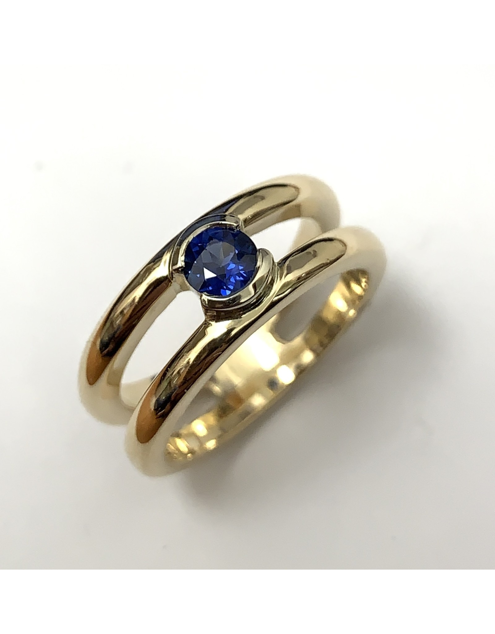 Solitaire Sapphire Ring 14KWY