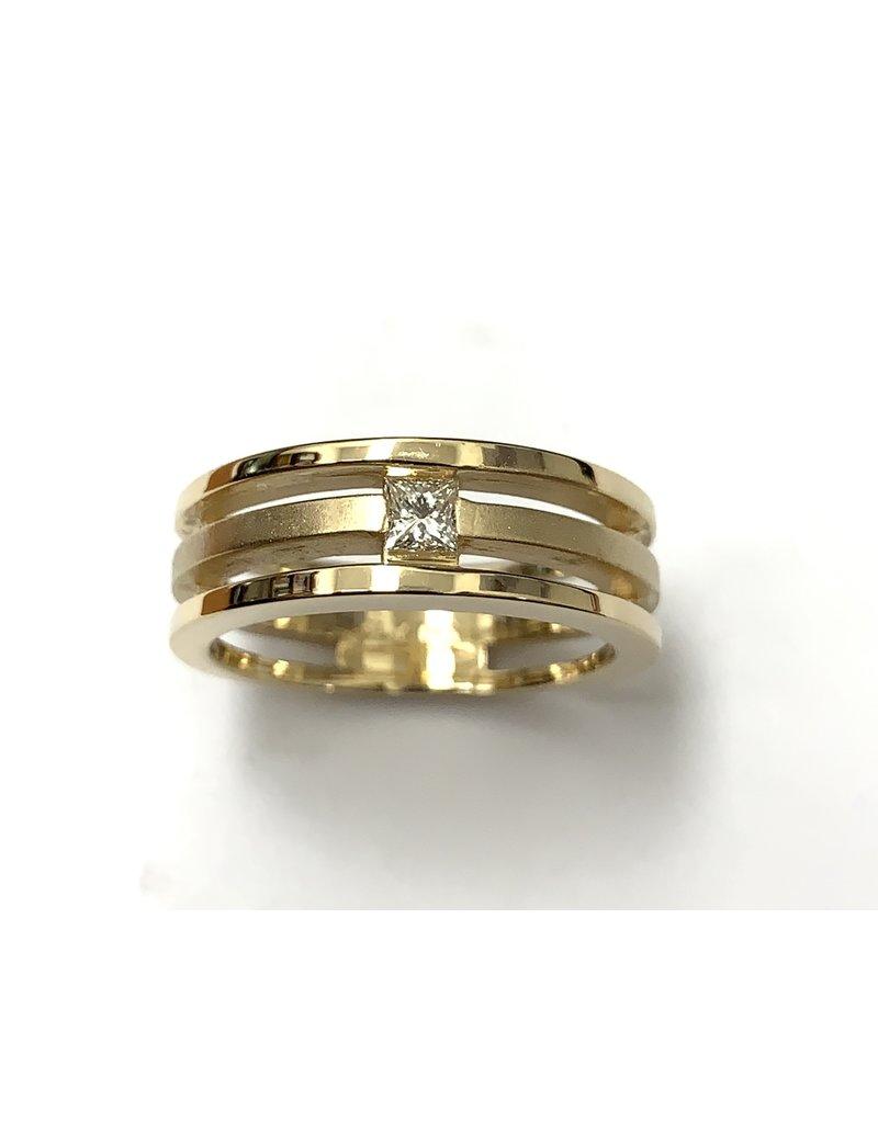 Princess Diamond Wedding Band 14KY