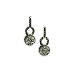 Frederic Duclos Lightning Drusy Coated Paulette Earrings