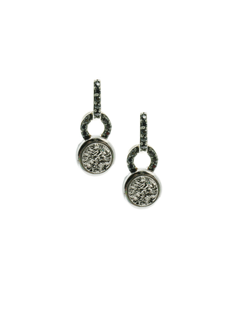 Frederic Duclos Lightning Drusy Coated Paulette Earrings SS
