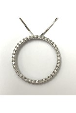 Circle of Love Diamond Pendant 14KW