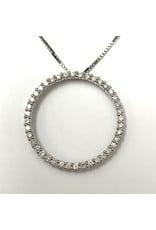 Circle of Love Diamond Pendant 14KW