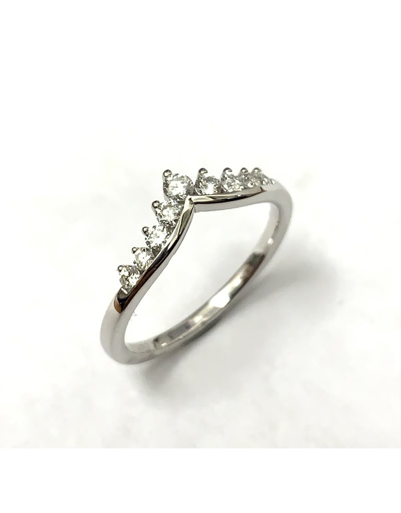 0.25ctw Point Diamond Ring 14KW