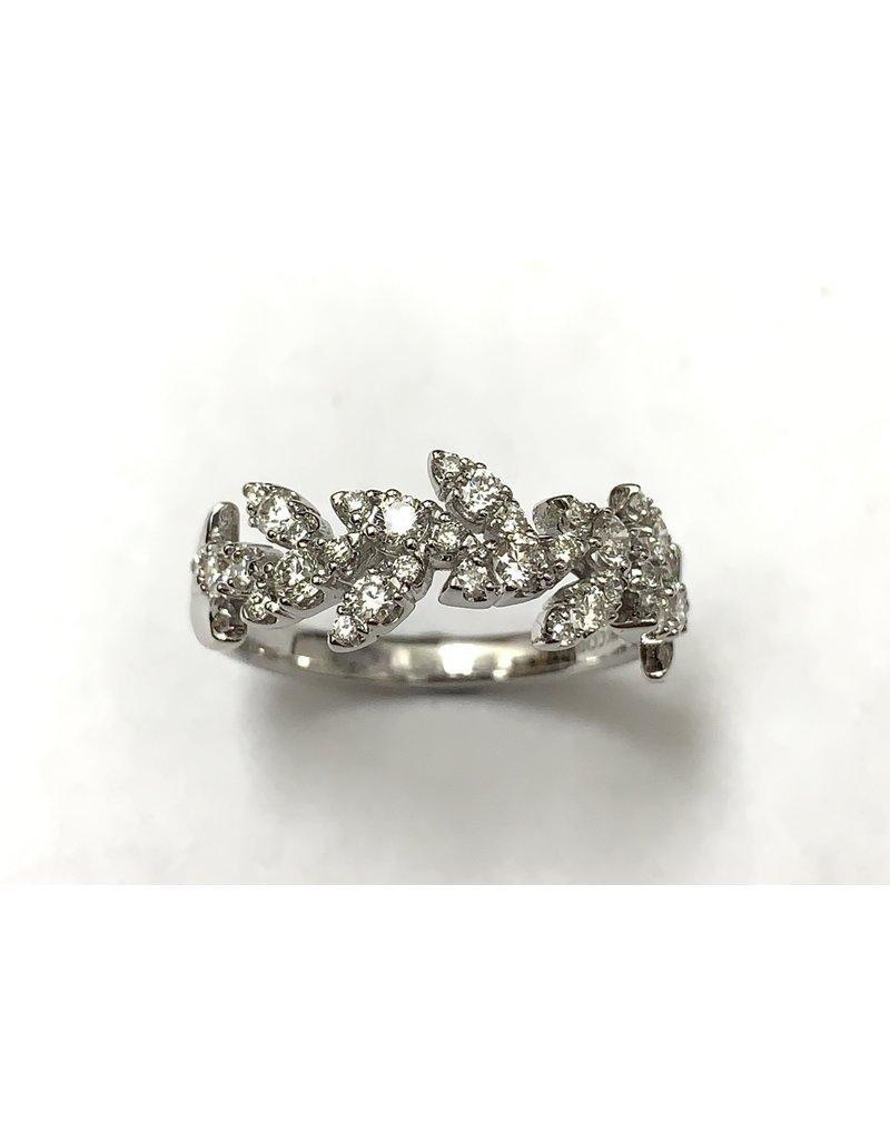 0.50ctw Leaf Style Diamond Ring 10KW