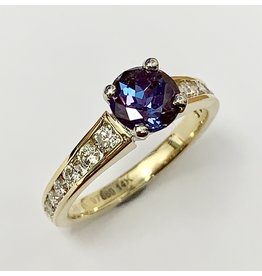 Noam Carver 1.26ct Lab Created Alexandrite & Diamond Ring