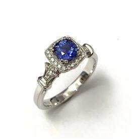Noam Carver Sapphire & Diamond Halo Ring
