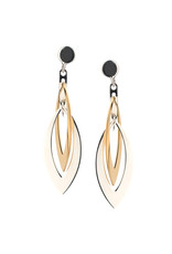 Frederic Duclos Layer Marquise Earrings SS/YGP
