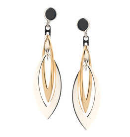 Frederic Duclos Layer Marquise Earrings