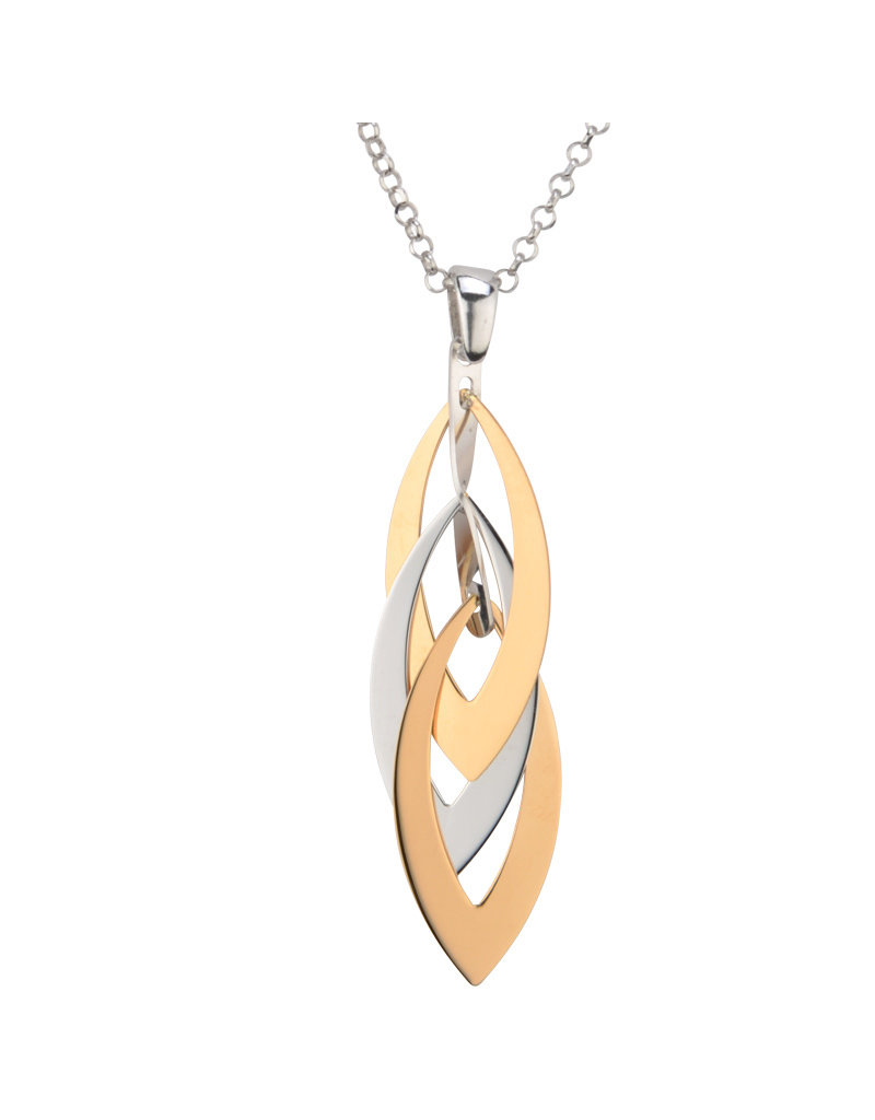 Frederic Duclos Marquise Layers Necklace SS/YGP