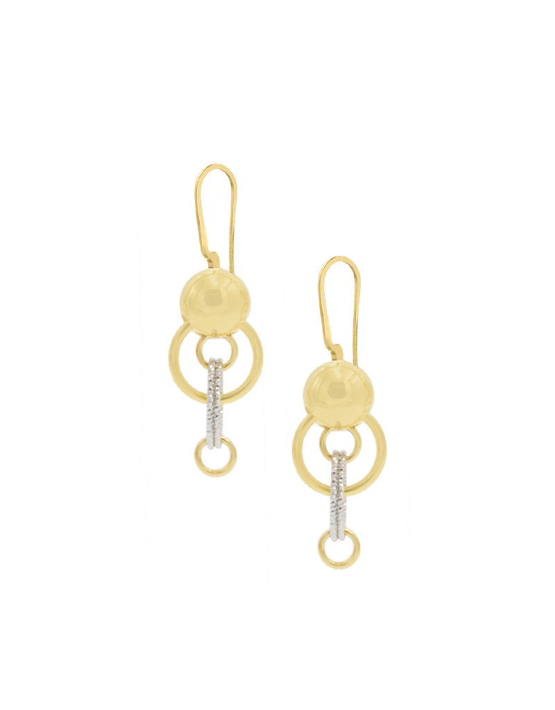 Frederic Duclos Colleen Earrings SS/YGP