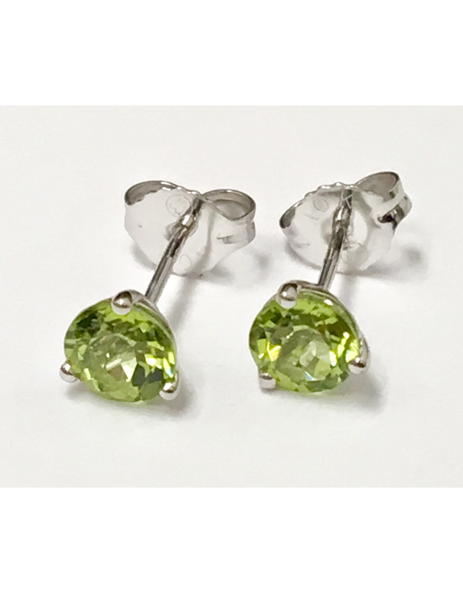 5mm Peridot Stud Earrings 10KW