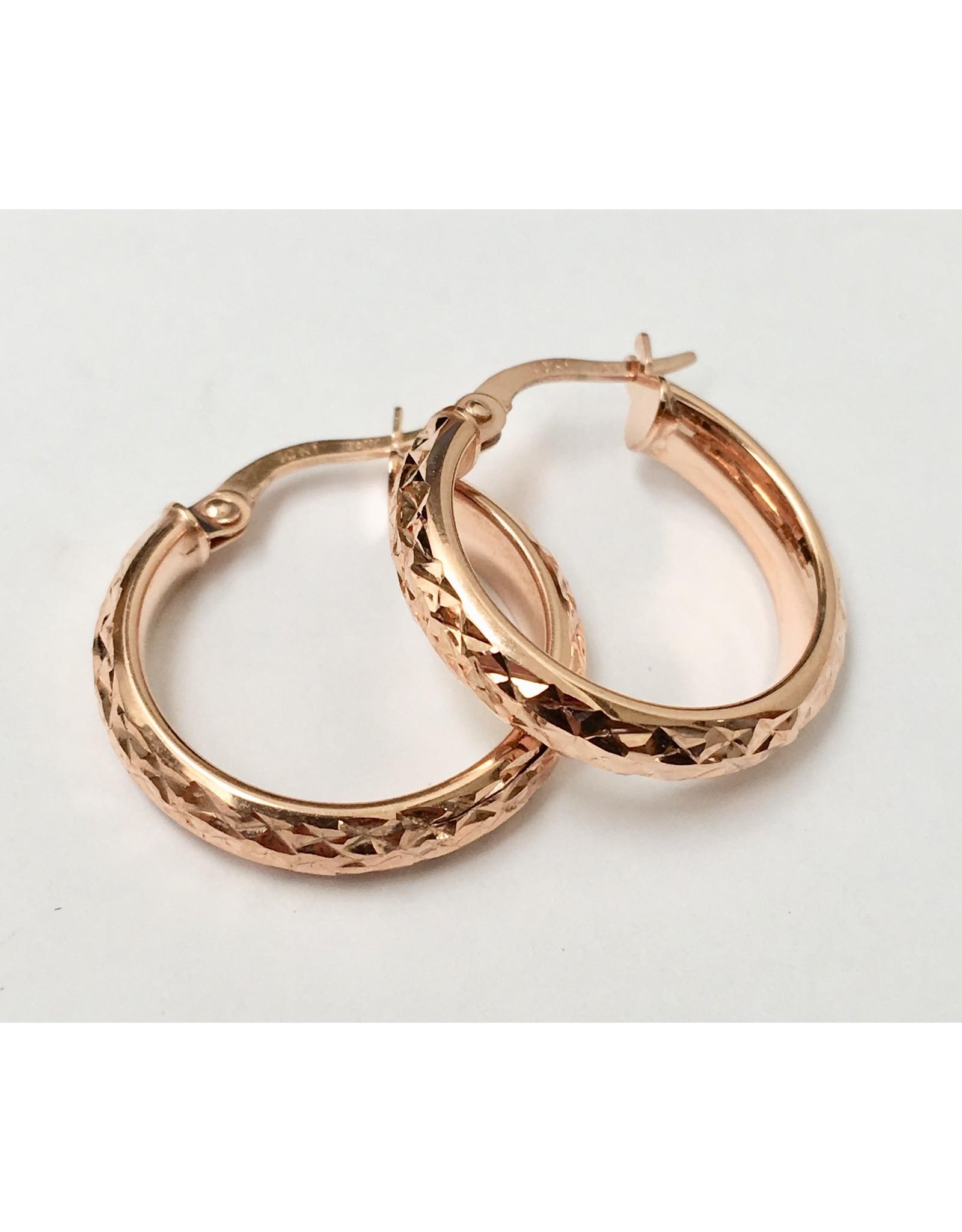 20mm Fancy Hoop Earrings 10KR