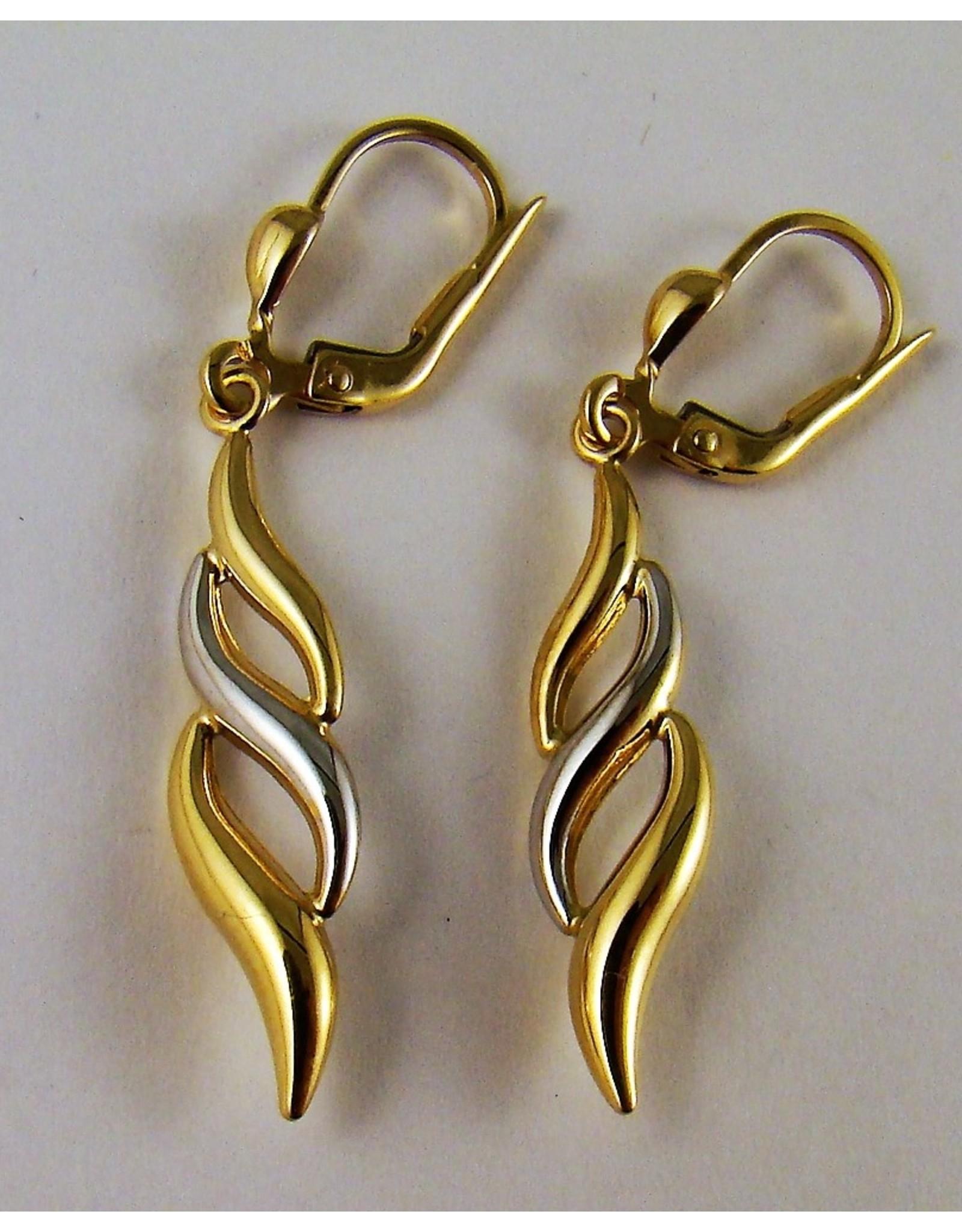 Fancy Dangle Style Earrings 10KWY