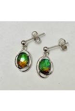 Korite Dangle Ammolite Earrings SS